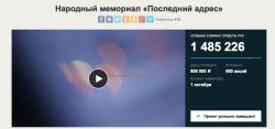 Проект народного мемориала «Последний адрес» собрал на «Планете.ру» почти 1,5 миллиона рублей
